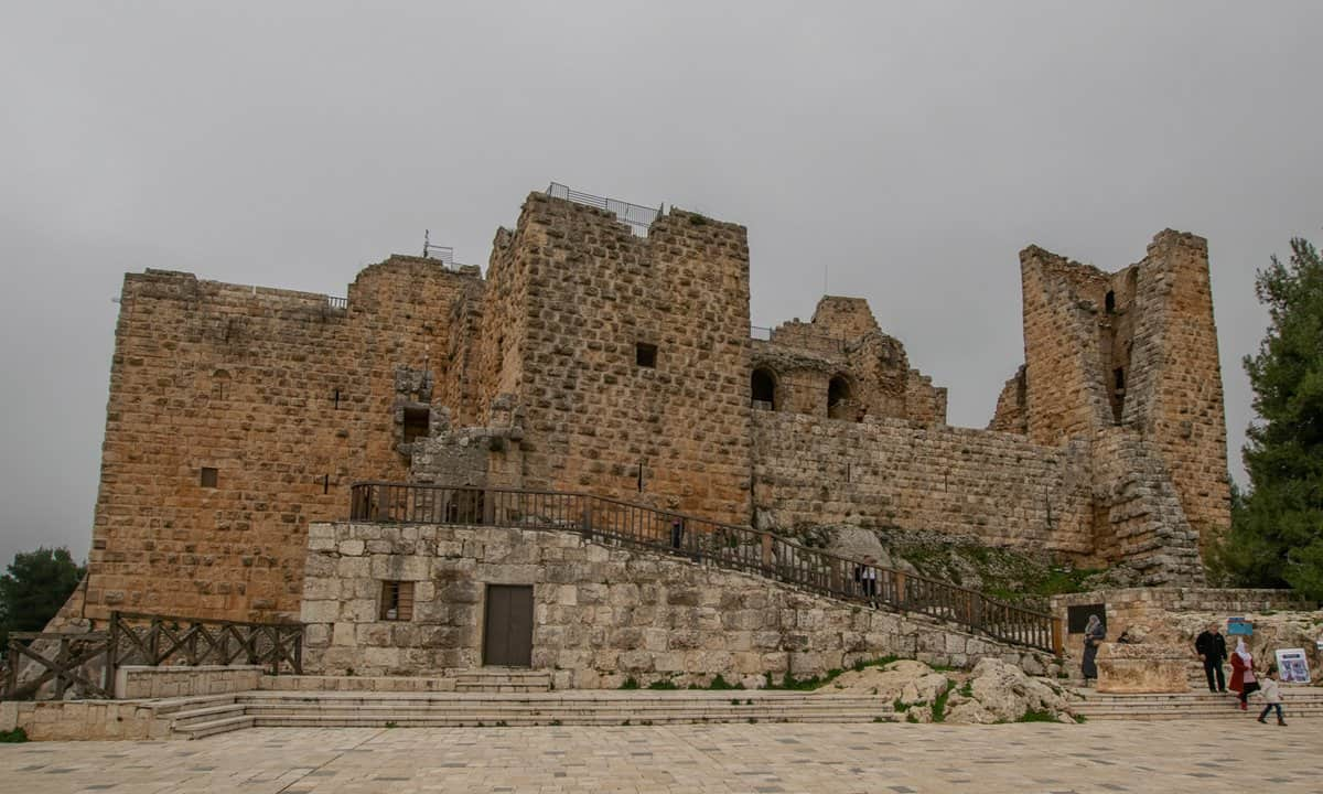 A view of the 12th century Muslim castle of Ajloun.