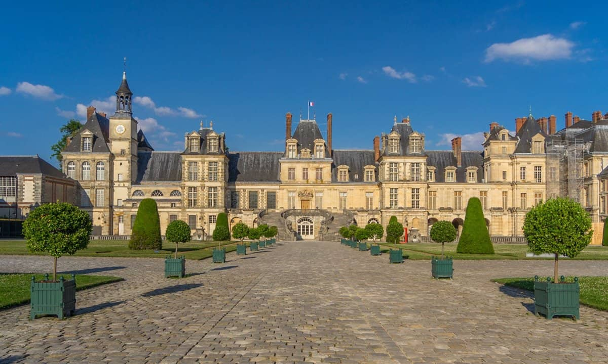 Part of the medieval palace at the Château de Fontainebleau.