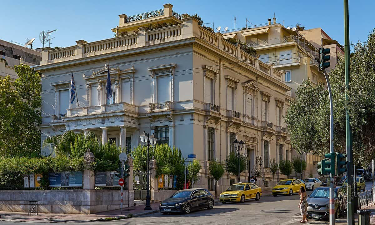The Neoclassical front to the Benaki Museum in central Athens.