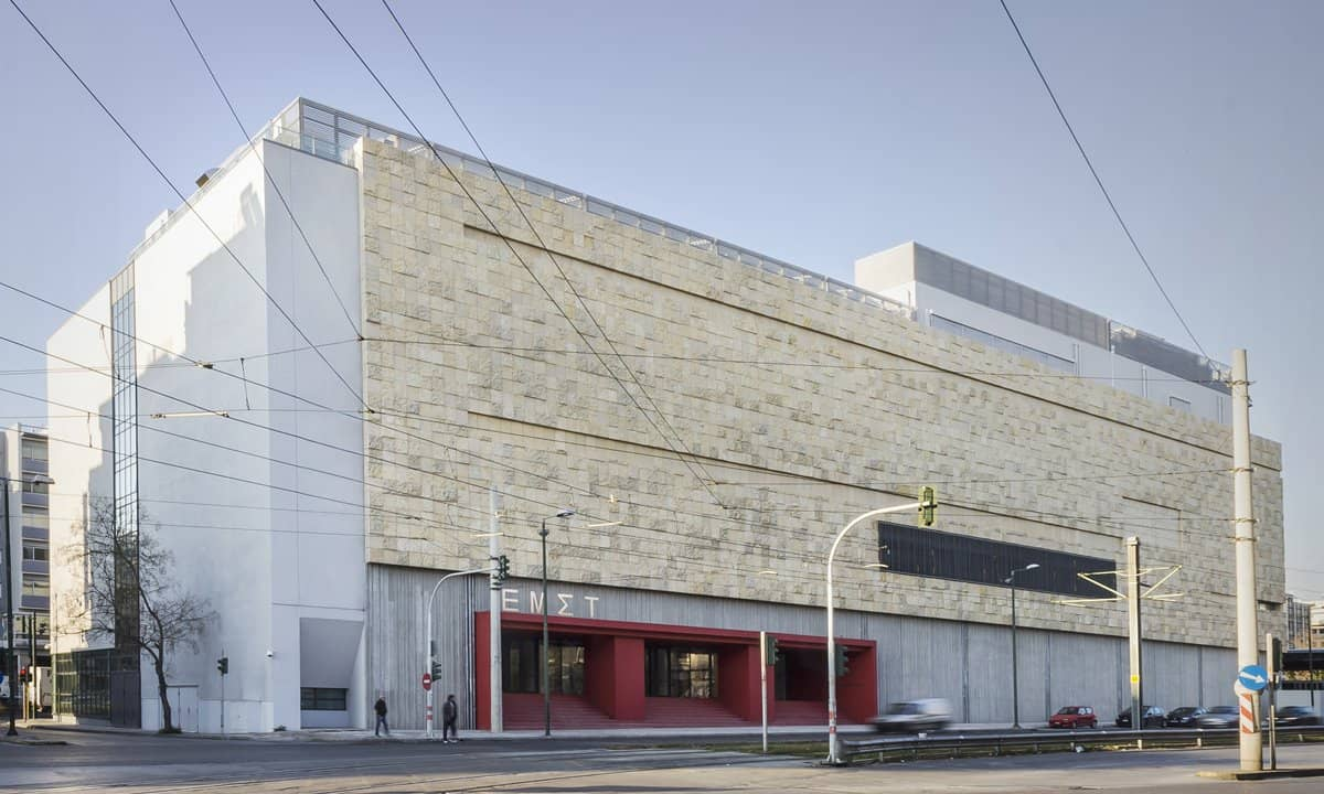 The refurbished building that is now the National Museum of Contemporary Art in Athens.