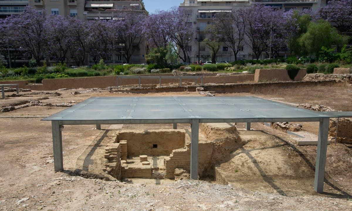 Excavated ruins of Aristotle's Lyceum in Athens city centre.
