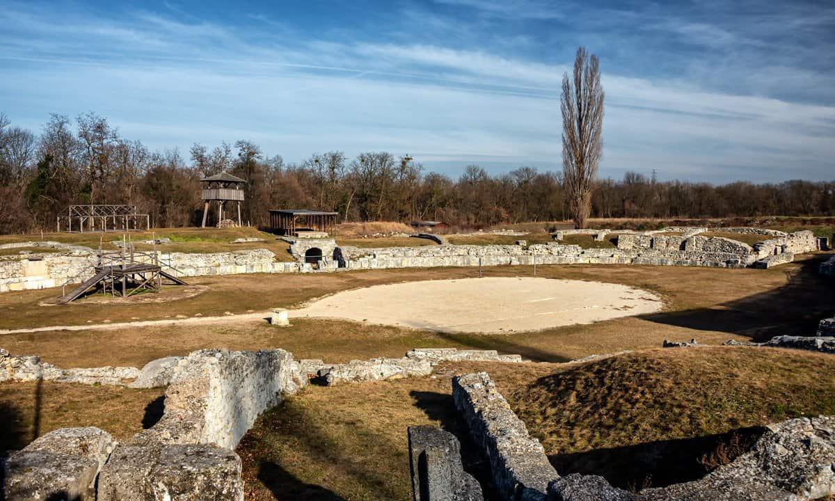 The amphitheatre in the military city of Carnuntum, Austria.
