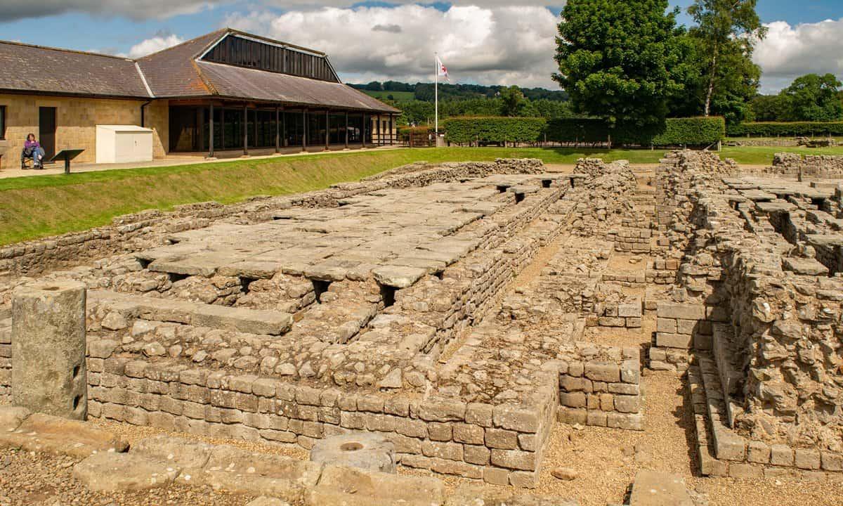 Ruins of the Roman town at Corbridge, Hadrian's Wall.