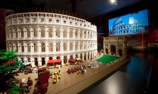 The Colosseum reconstructed from Lego bricks.