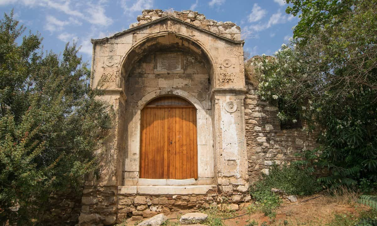 The door to what was a Madrasa in Ottoman Athens.