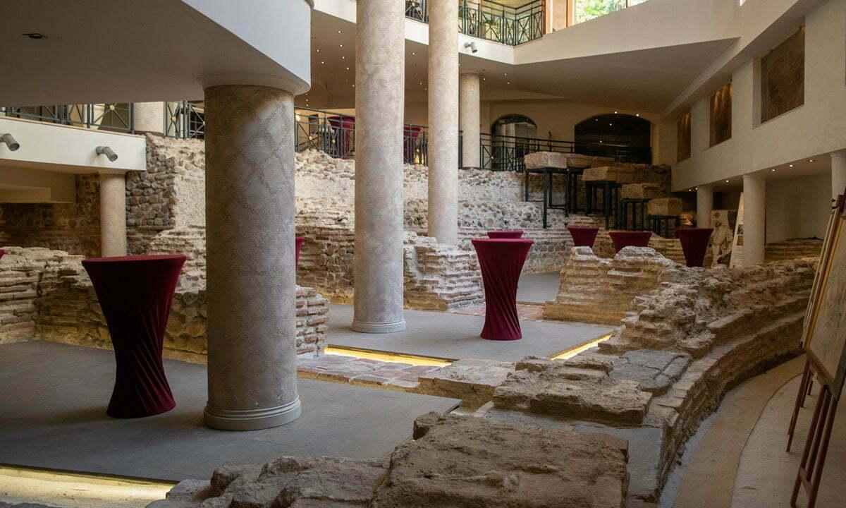 Remains of the amphitheatre in the basement of the Arena di Serdica Hotel, Sofia.
