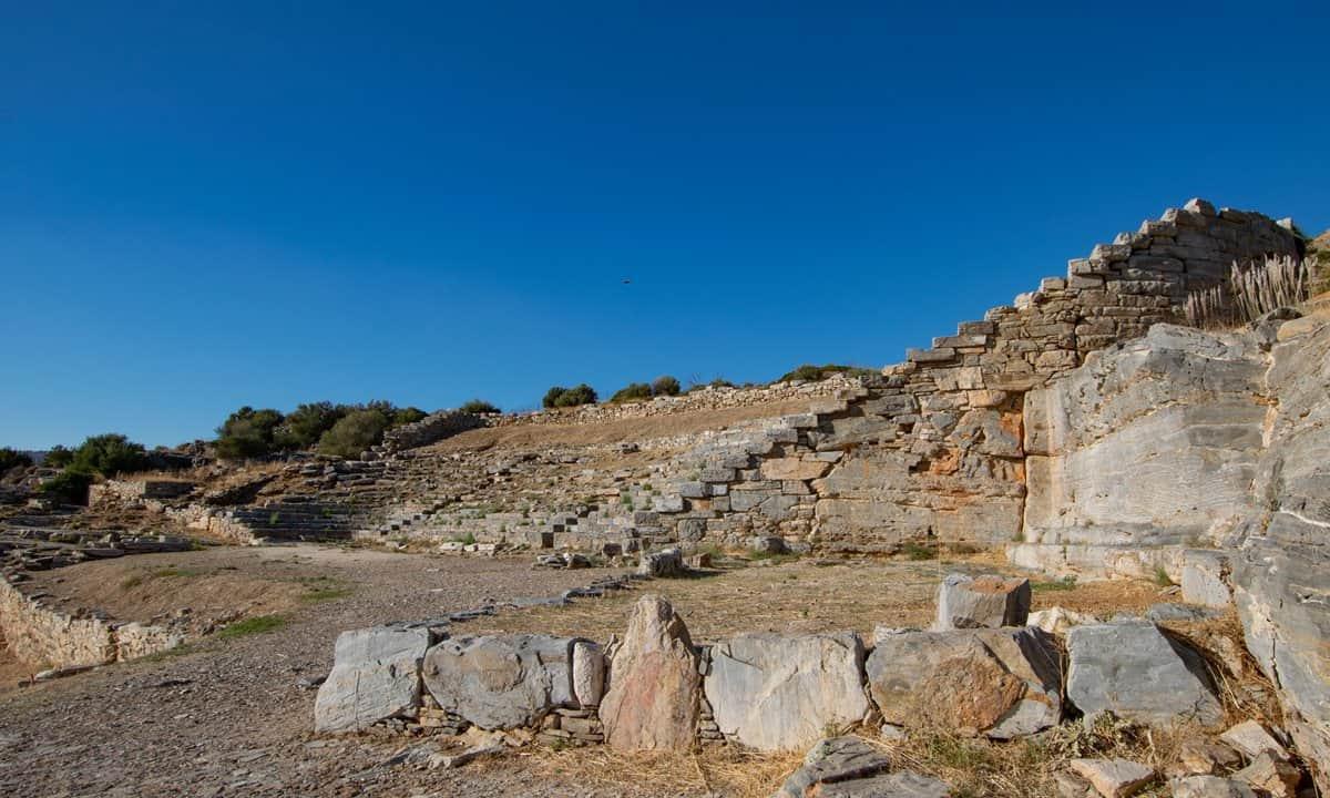 The temple of Poseidon at Cape Sounion, Attica.
