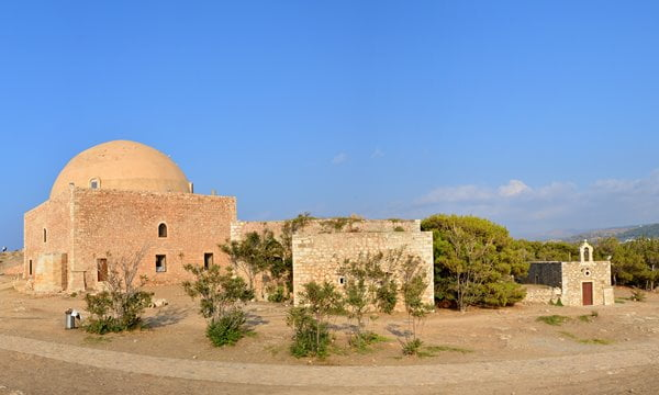 A mosque and a chapel in the Venetian Fort of Rethymno.