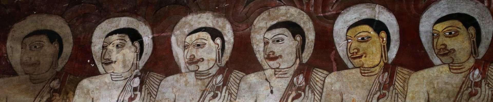 Religious frescoes in Sri Lanka.
