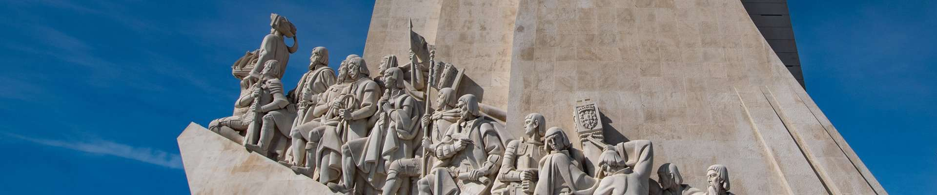 The 'monument of the discoverers' on the waterfront in Lisbon, Portugal.