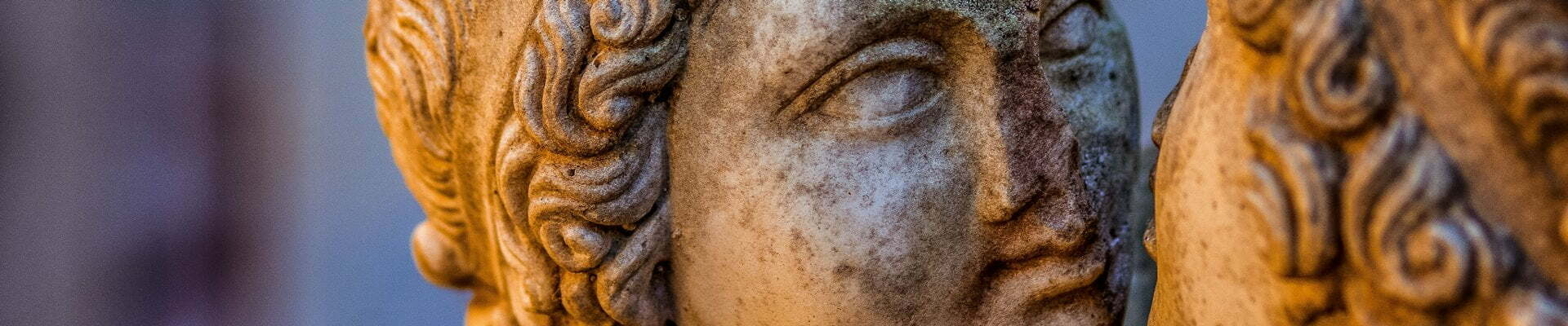 Sculptural detail from statues at Ostia Antica, near Rome.