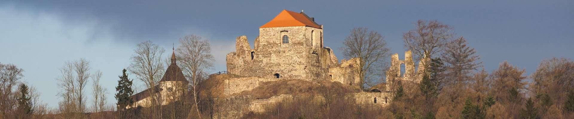 The ruins of Potstejn Castle in Eastern Bohemia, Czech Republic.