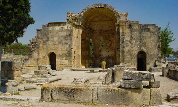 The Byzantine Church of St Titus at Gortyn, Crete.