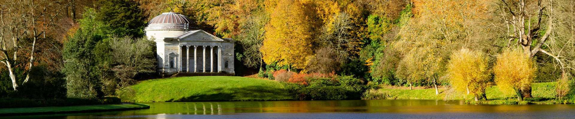 Stourhead in Wiltshire is well known for its autumn colours.