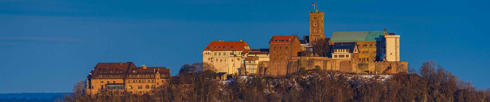Wartburg Castle at Eisenach in the Thuringia Forest, Germany.