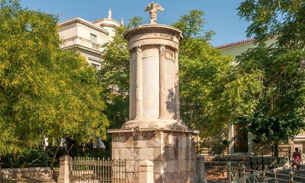 Choragic Monument of Lysicrates near the Acropolis of Athens.