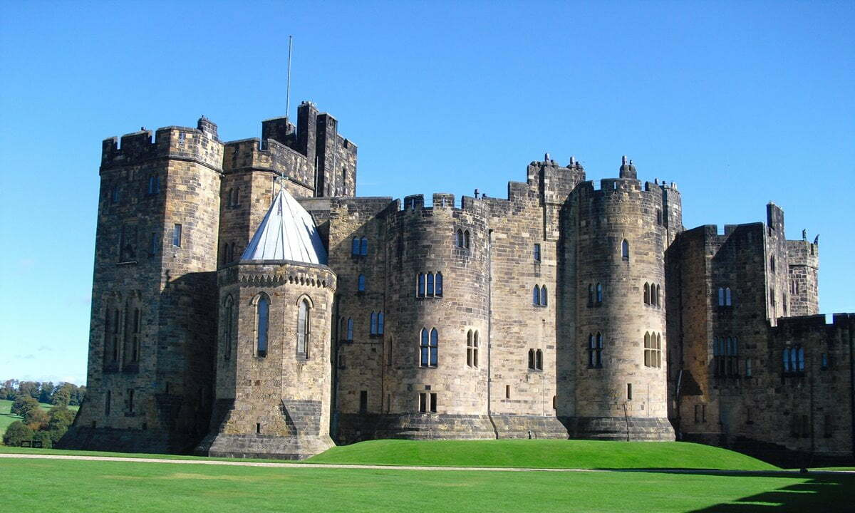 The keep of Alnwick Castle in Northumberland, England.