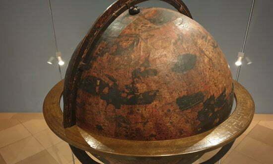 The Behaim Globe in the Germanische National Museum, Nuremberg.
