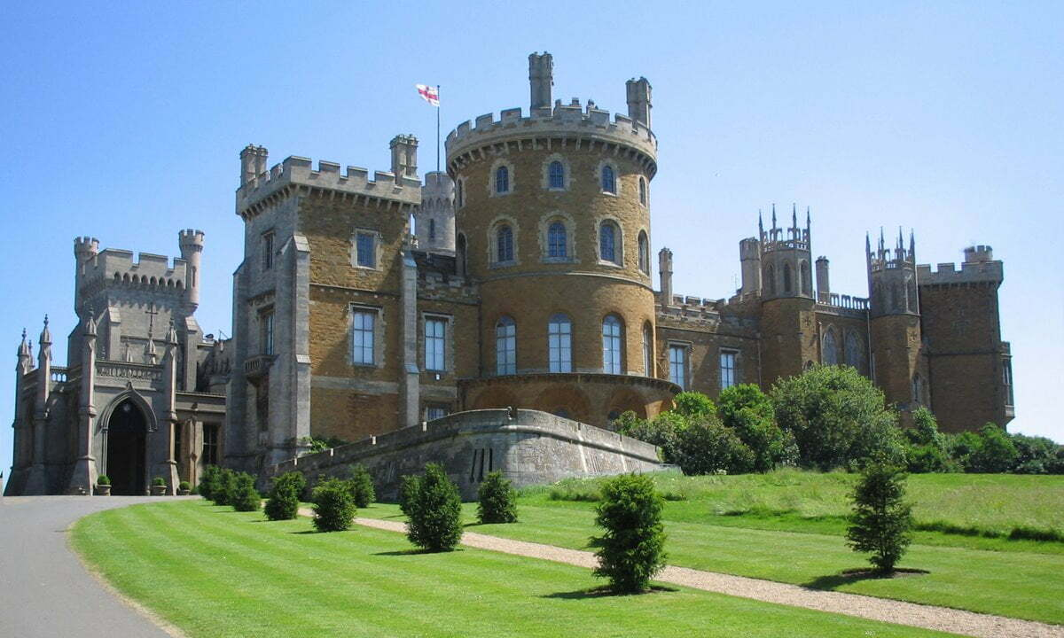 The 19th century Belvoir Castle in Leicestershire, England.
