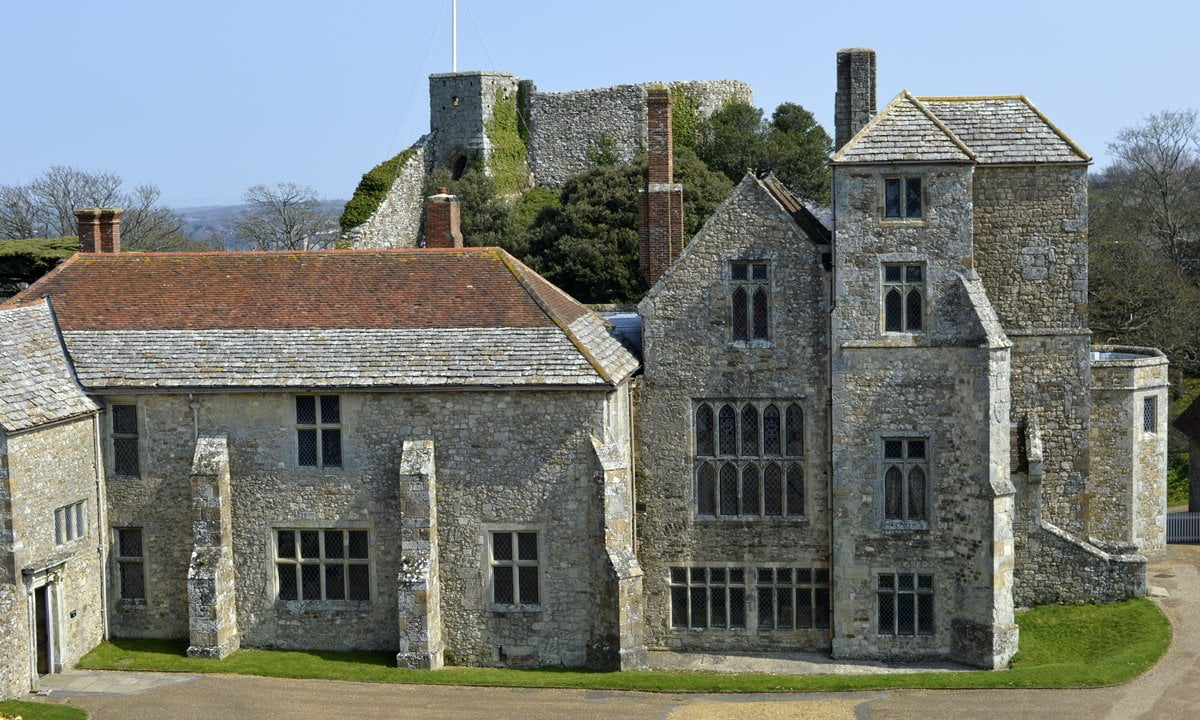The Great Hall, Chapel and Constable's Lodging in Carisbrooke Castle.