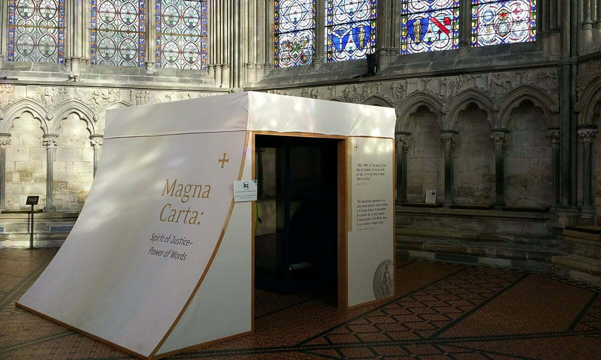 The Magna Carta is housed in the Chapter House of Salisbury Cathedral.