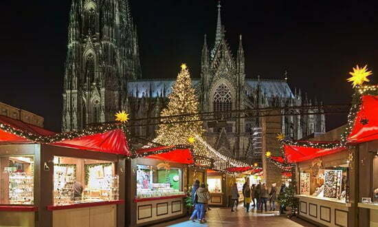 Cologne Christmas market next to the Cathedral.