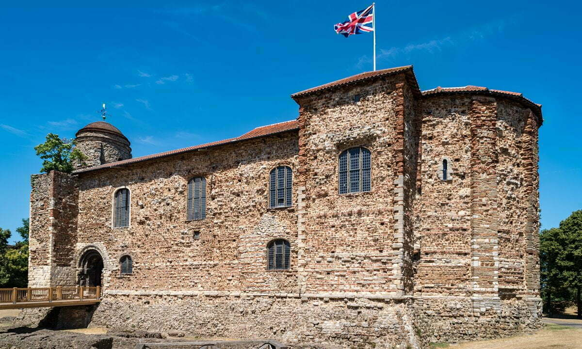 The keep of Colchester Castle.