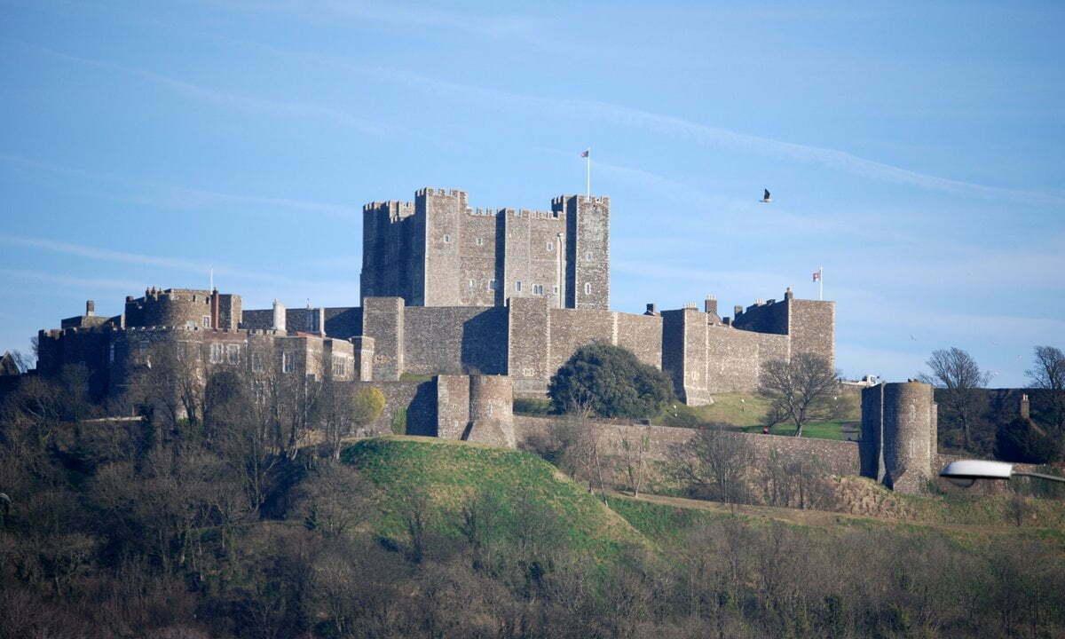 Dover Castle on a bright winter's day.