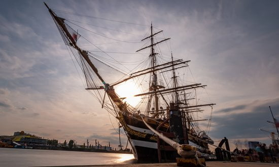 One of many historic ships for visitors to see in Hamburg.