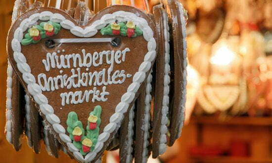 Typical gingerbread at the Nuremberg Christmas market.