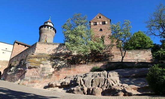 The imperial castle in Nuremberg, Bavaria.