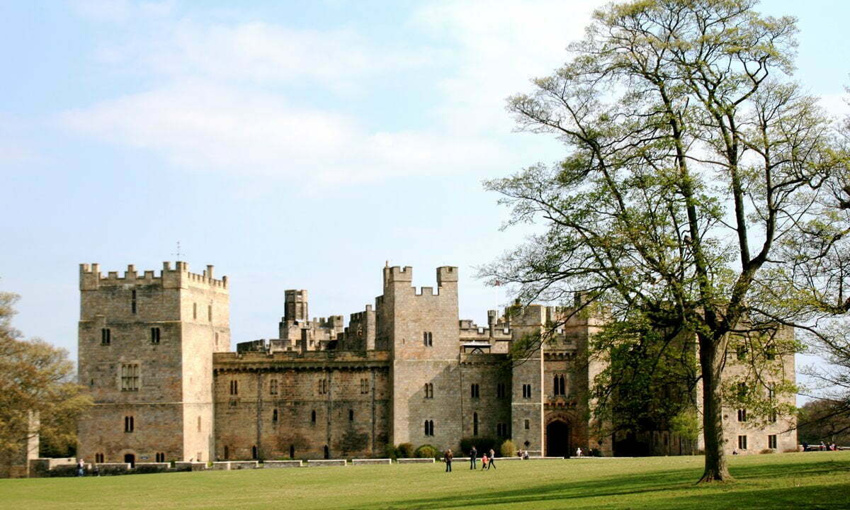 Raby Castle in the spring, County Durham.