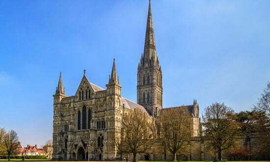 Salisbury Cathedral, the tallest church spire in Britain.
