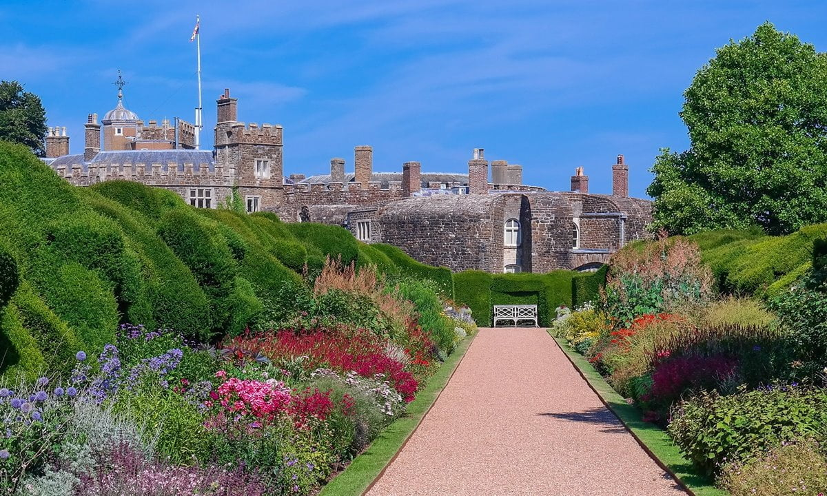 Walmer Castle in Kent is set within eight acres of award winning gardens.