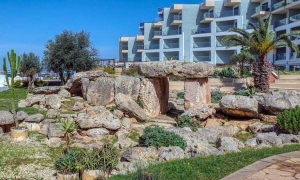 The Dolmen Resort Hotel was built around the Buġibba Temple in Malta.