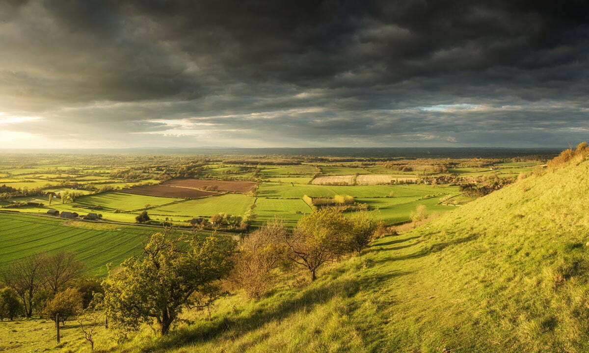 View from Devil's Dyke on the South Downs, West Sussex.