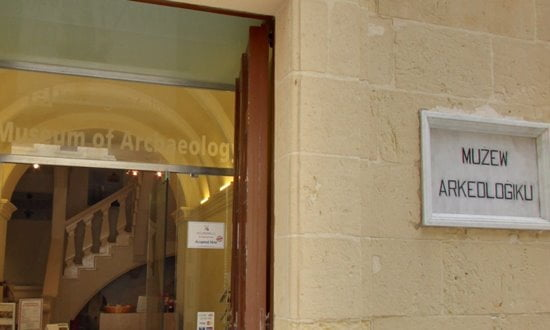 The entrance to Gozo Museum of Archaeology.