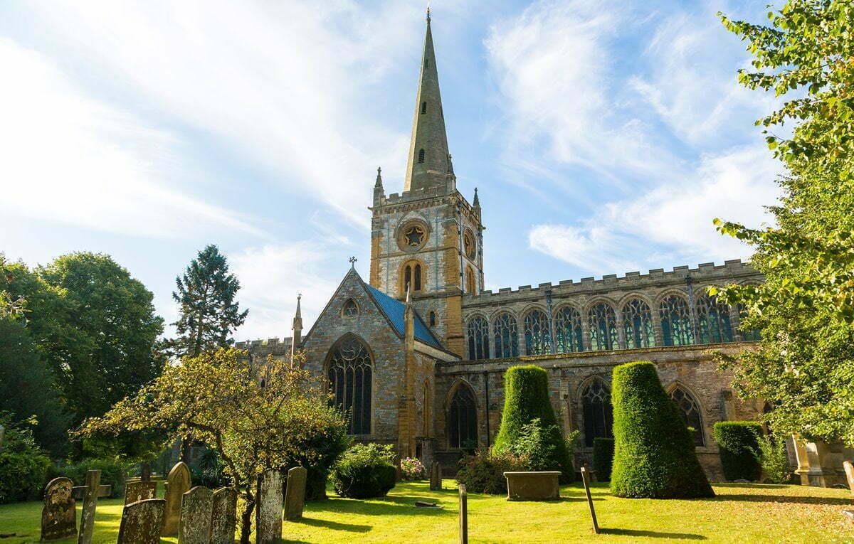 The Holy Trinity Church in Stratford-upon-Avon.