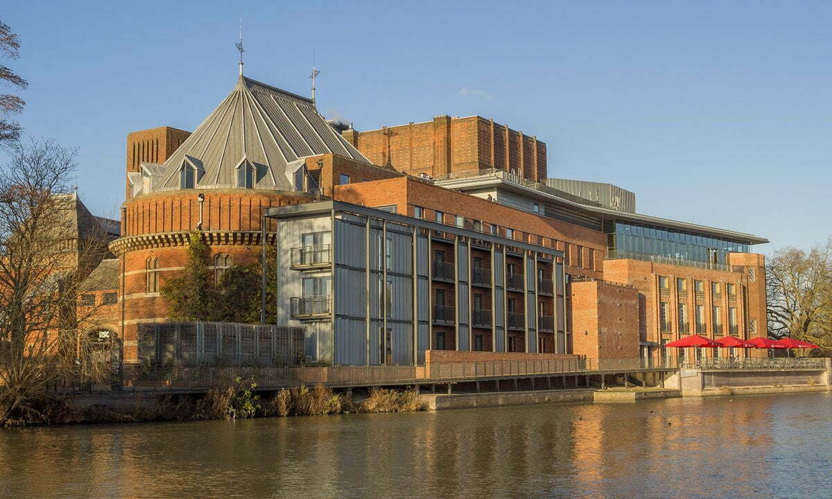 The Royal Shakespeare Theatre on the banks of the Avon River.