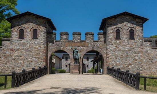 The Porta Praetoria at Römerkastell Saalburg Archäologischer Park.