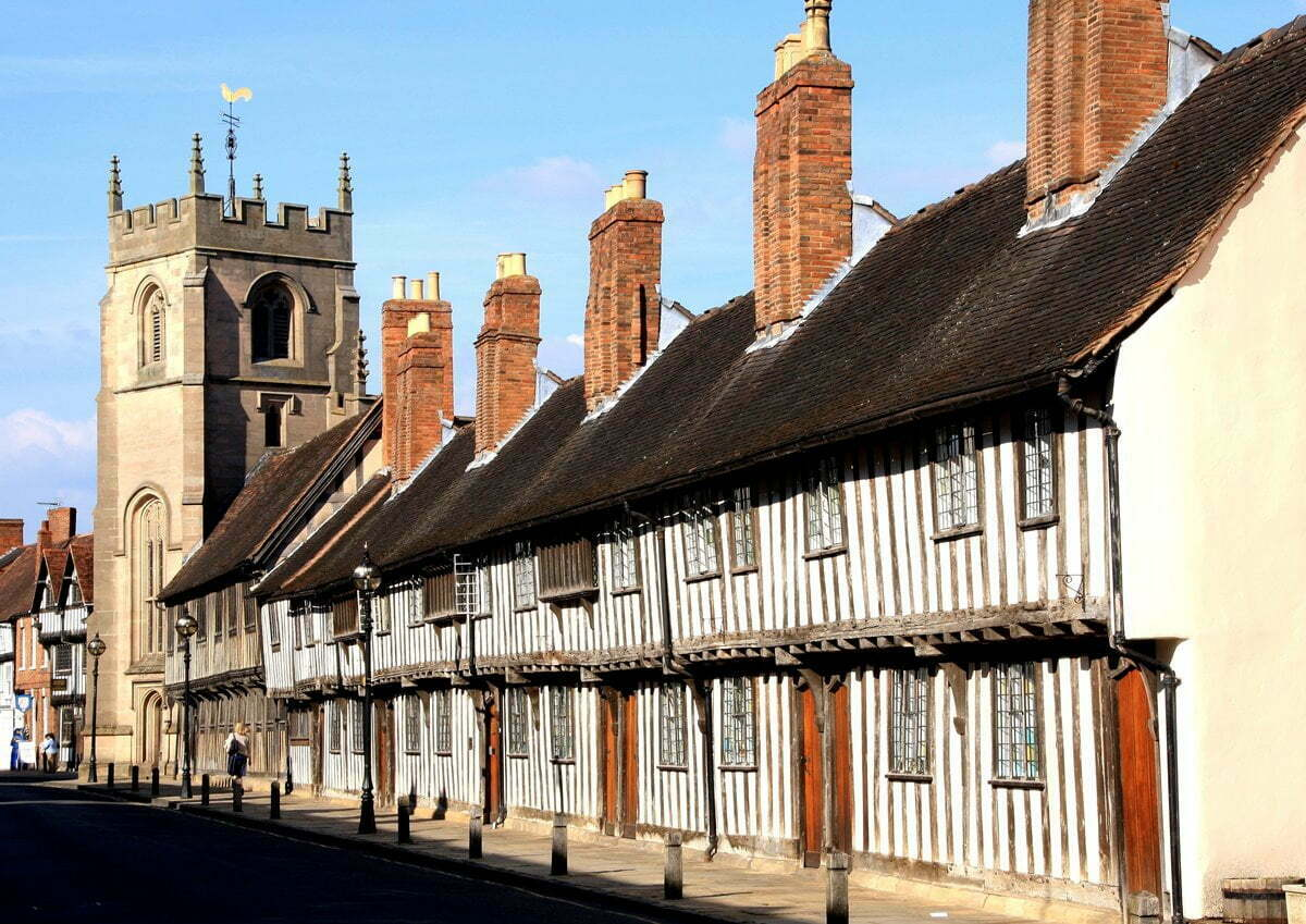 Shakespeare's schoolroom and Stratford-upon-Avon's guildhall.