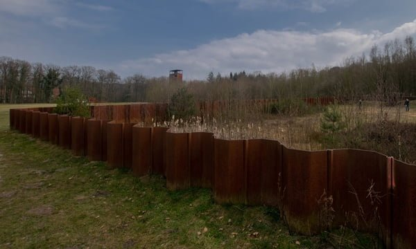 The archaeological excavation and the viewing tower at Varusschlacht, Germany.