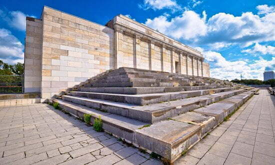 The main tribune of the Zeppelinfeld, part of the Nazi Rally Grounds in Nuremberg.